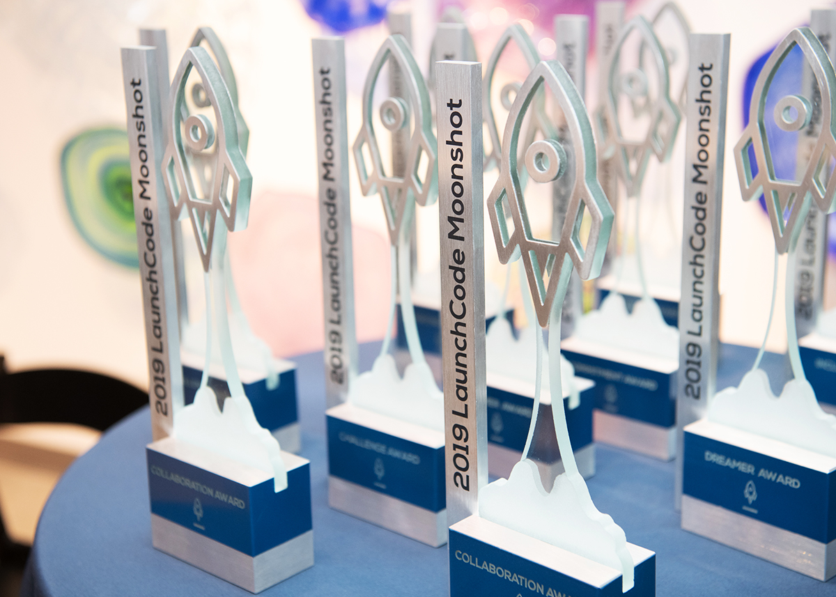 Custom awards made for LaunchCode by Custom MADE