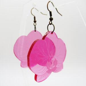 laser cut orchid earrings by Beqi